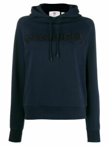 Rossignol embroidered logo hoodie - Blue