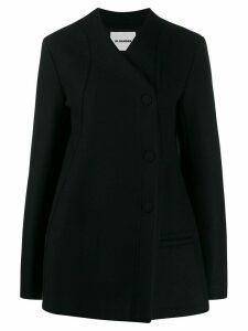 Jil Sander buttoned oversized coat - Black