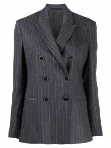 Eleventy striped double-breasted blazer - Grey