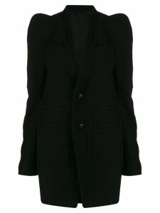 Rick Owens textured single-breasted coat - Black