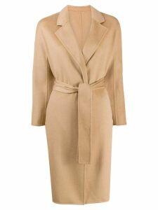 N.Peal cashmere belted coat - Brown