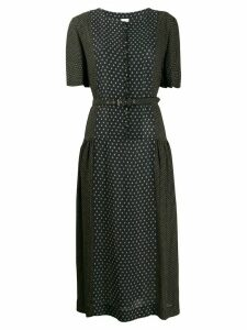 Zanini panelled midi dress - Black