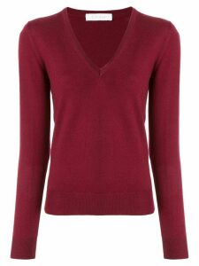Cruciani long-sleeve fitted top - Red