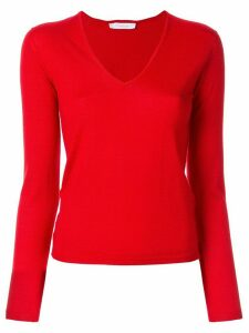 Cruciani long-sleeve fitted sweater - Red
