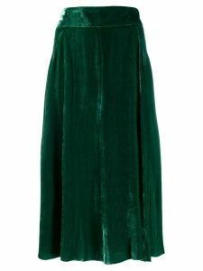 Roberto Collina velvet midi skirt - Green