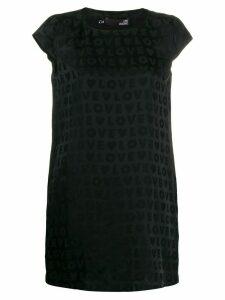 Love Moschino satin-jacquard mini dress - Black