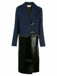 Marni two-toned coat - Blue