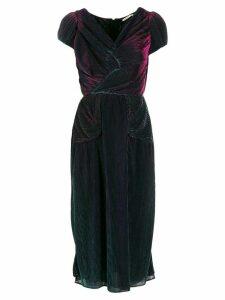 Marco De Vincenzo plissé midi evening dress - Black