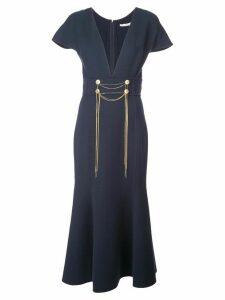 Oscar de la Renta chain detail dress - Blue