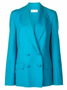 Oscar de la Renta double breasted blazer - Blue