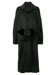 Yohji Yamamoto B/BUCKLE PT COAT - Black