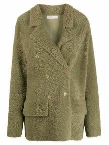 Inès & Maréchal Frou Frou shearling coat - Green