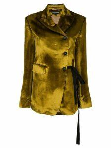 Ann Demeulemeester crushed velvet blazer - Gold