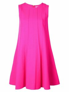 Oscar de la Renta rib-detail swing dress - PINK