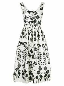 Oscar de la Renta floral print sundress - White