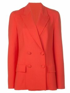Oscar de la Renta double breasted blazer - Red