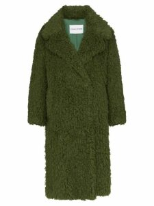 STAND STUDIO textured wrap-around coat - Green