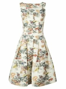 Oscar de la Renta floral print dress - White