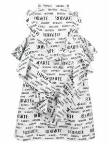 Rodarte repeat logo ruffle skirt - White