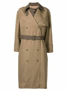 Rokh layered two-tone coat - Green