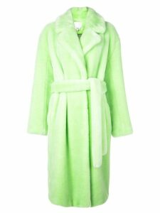 Tibi oversized faux fur coat - Green