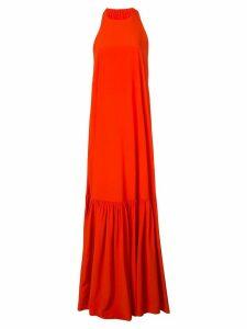 Tibi halterneck maxi dress - ORANGE