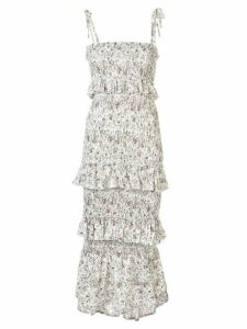 Sir. Haisley floral ruched midi dress - White