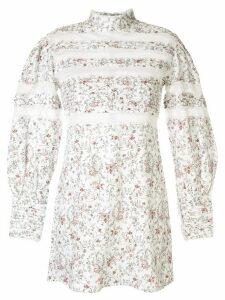Sir. Haisley floral print mini dress - White