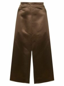 Tibi satin pencil skirt - Brown