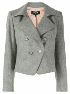 Paule Ka broadcloth cropped blazer - Grey
