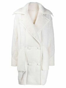 Iceberg shearling double-breasted coat - White