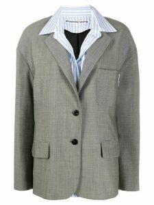 Alexander Wang oversize drop blazer - Grey