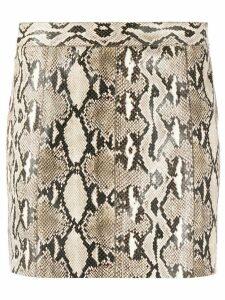 Givenchy snake-effect mini skirt - Grey