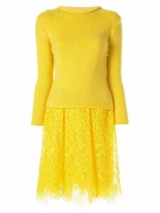 Ermanno Scervino half knit dress - Yellow