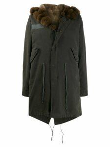 Liska trimmed parka coat - Grey