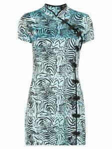De La Vali suki tiger print mini dress - Blue