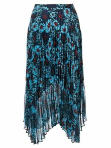 Markus Lupfer floral print pleated skirt - Blue
