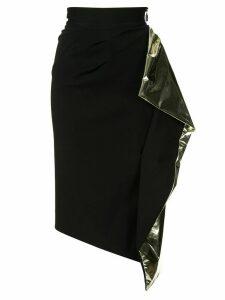 Maticevski Alkali draped detail skirt - Black