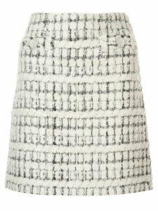 Paule Ka terry tweed mini skirt - White