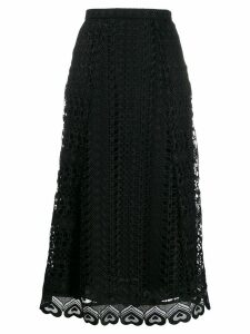 Temperley London Sunbird lace midi skirt - Black