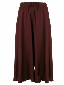 Aspesi wide leg skirt trousers - Red