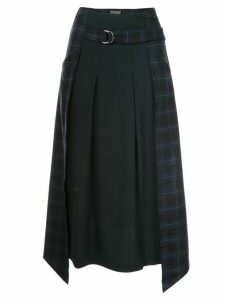 Lorena Antoniazzi asymmetric check skirt - Blue