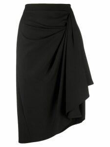 L'Autre Chose asymmetric draped skirt - Black