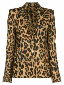 Paco Rabanne single-breasted leopard blazer - GOLD