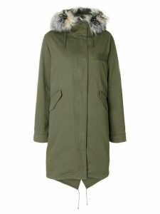 Yves Salomon Army fur trimmed hooded parka - Green