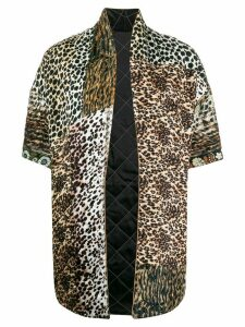 Pierre-Louis Mascia animal print padded coat - Brown
