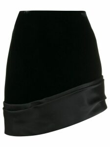 Saint Laurent asymmetric mini skirt - Black