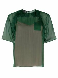 Rochas ruffled T-shirt - Green