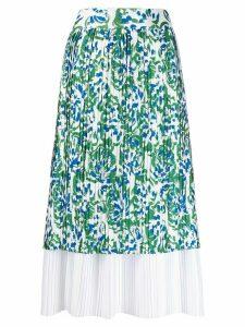 Victoria Victoria Beckham floral-print layered skirt - White