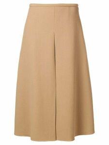 Rochas flared midi skirt - NEUTRALS